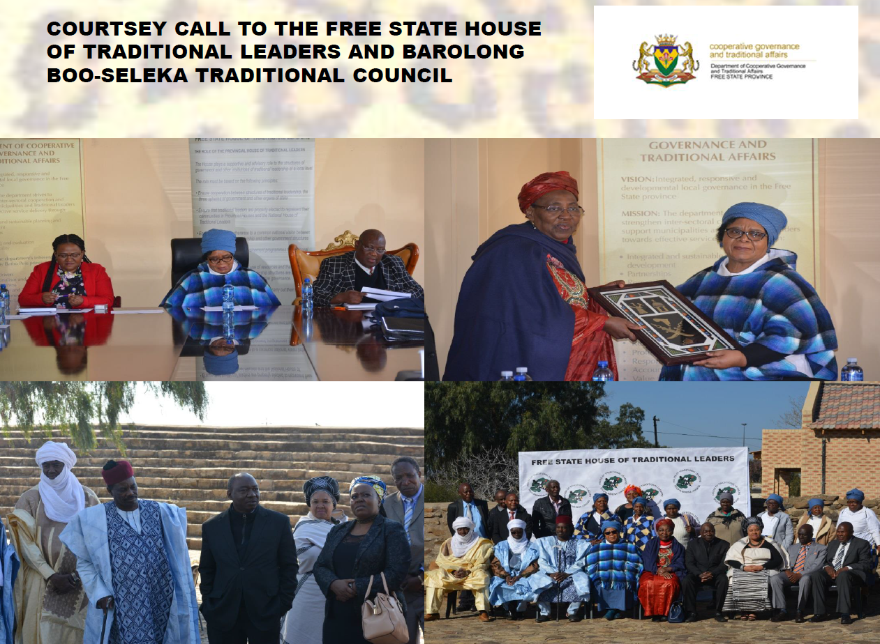 Cuortesy call to the Free State House of Traditional Leaders
